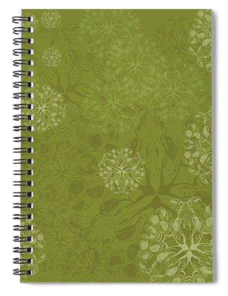 Blob Flower Painting #2 Yellow Green Spiral Notebook