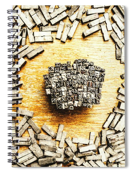 Block Of Communication Spiral Notebook