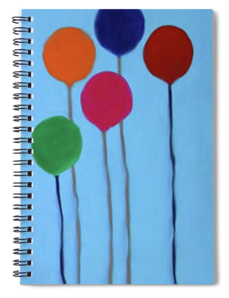 Blocks And Balloons Spiral Notebook