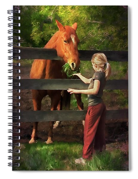 Blond With Horse Spiral Notebook