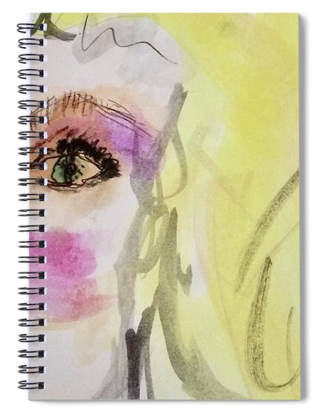 Blonde Spiral Notebook