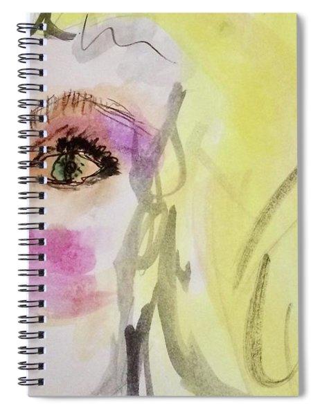 Blonde Spiral Notebook
