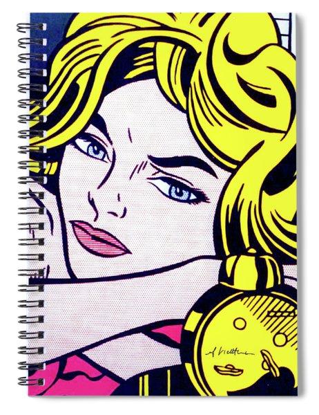 Blonde Waiting -1964 - Pop Art  Spiral Notebook