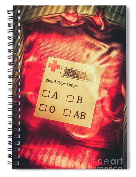 Blood Donation Bag Spiral Notebook