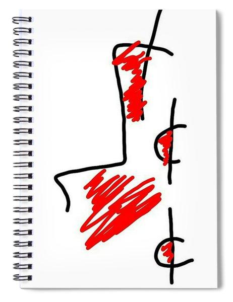 Blood Money Spiral Notebook