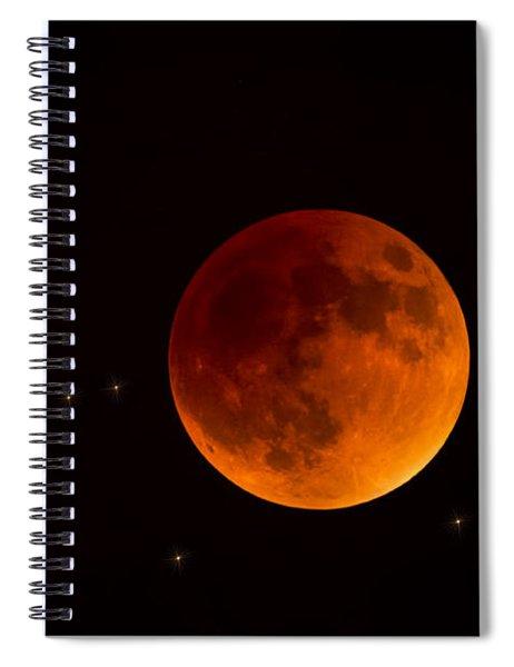 Blood Moon Lunar Eclipse 2015 Spiral Notebook