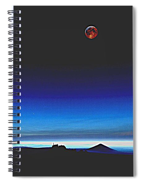 Blood Moon Over Mt. Fuji, Japan 2 Spiral Notebook