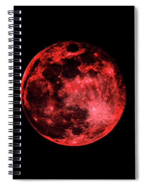Blood Red Moonscape 3644b Spiral Notebook