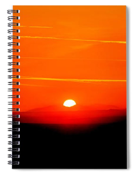 Blood Red Sunset Spiral Notebook