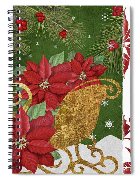 Blooming Christmas I Spiral Notebook
