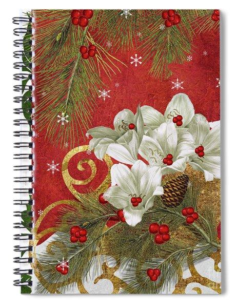 Blooming Christmas II Spiral Notebook