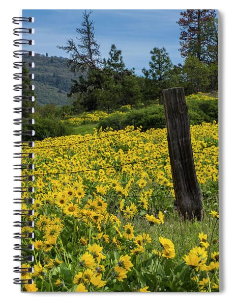 Blooming Fence Spiral Notebook