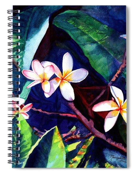 Blooming Plumeria Spiral Notebook