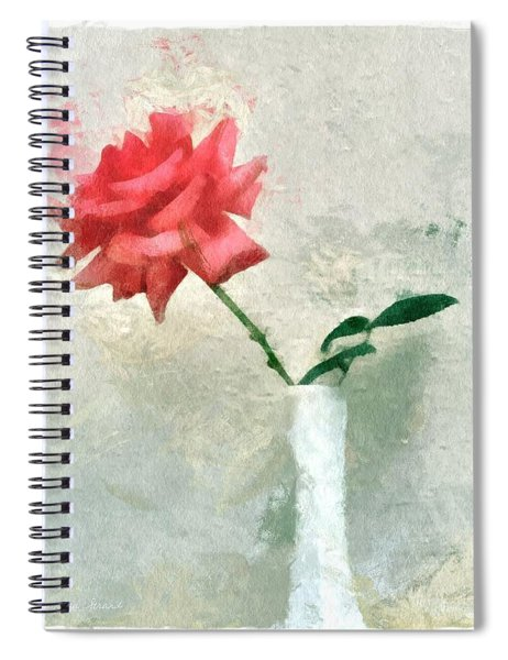 Blooming Rose Spiral Notebook