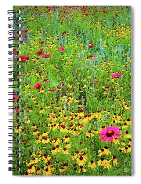 Blooming Wildflowers Spiral Notebook