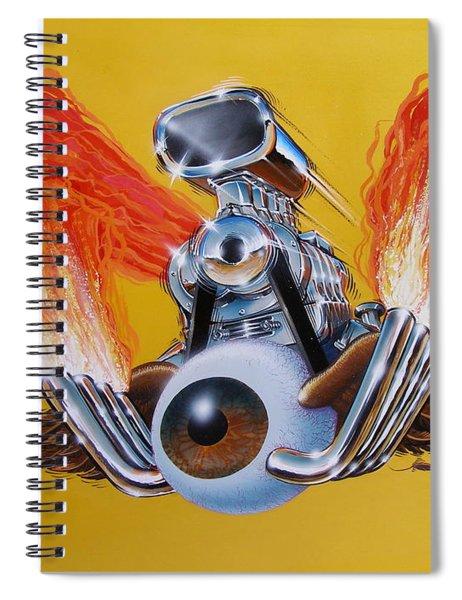 Blown Eyeball Spiral Notebook