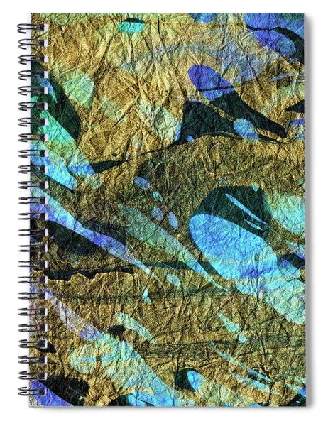 Blue Abstract Art - Deeper Visions 2 - Sharon Cummings Spiral Notebook
