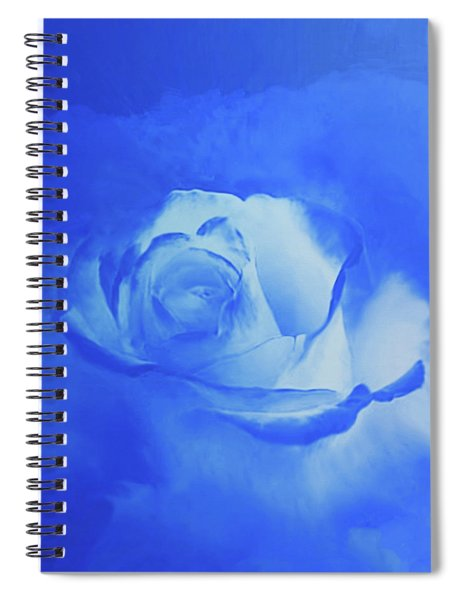 Blue And White Arising Spiral Notebook