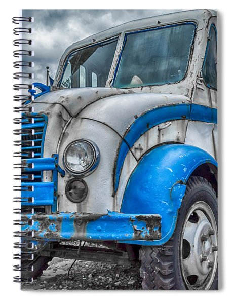 Blue And White Divco Spiral Notebook