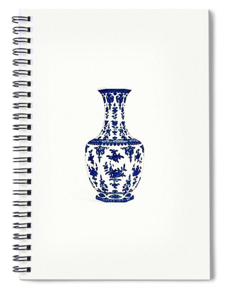 Blue And White Hexagonal Vase 2 Spiral Notebook