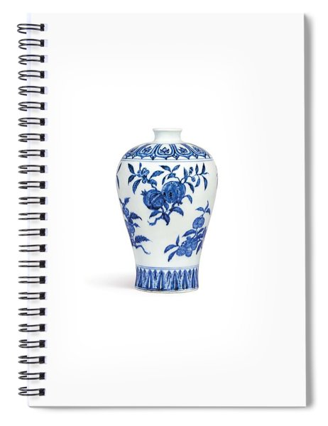 Blue And White Hexagonal Vase 3 Spiral Notebook