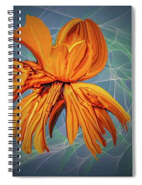 Blue And Yellow #h6 Spiral Notebook