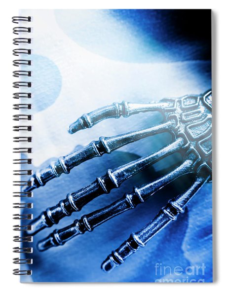 Blue Android Hand Spiral Notebook