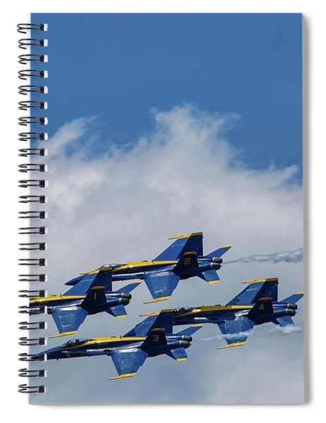 Spiral Notebook featuring the photograph Blue Angels 1 by Heather Kenward