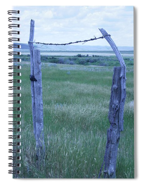 Blue Barbwire Spiral Notebook