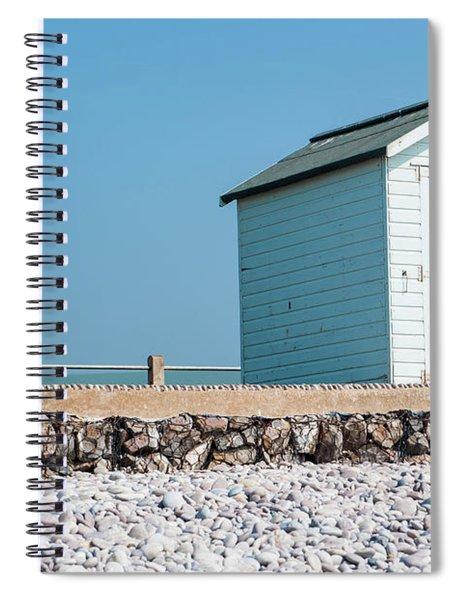 Blue Beach Hut Spiral Notebook
