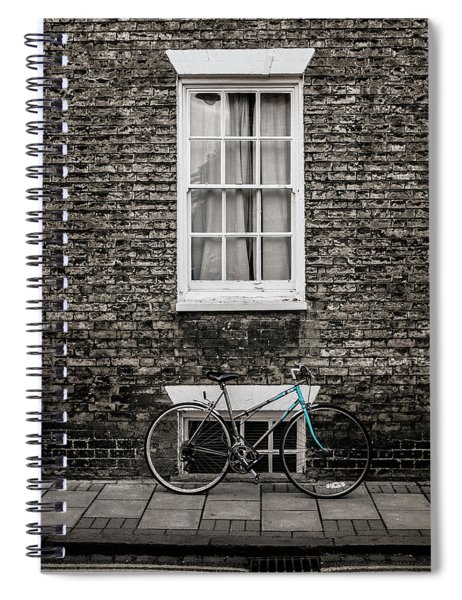 Blue Bicycle, Cambridge, England Spiral Notebook