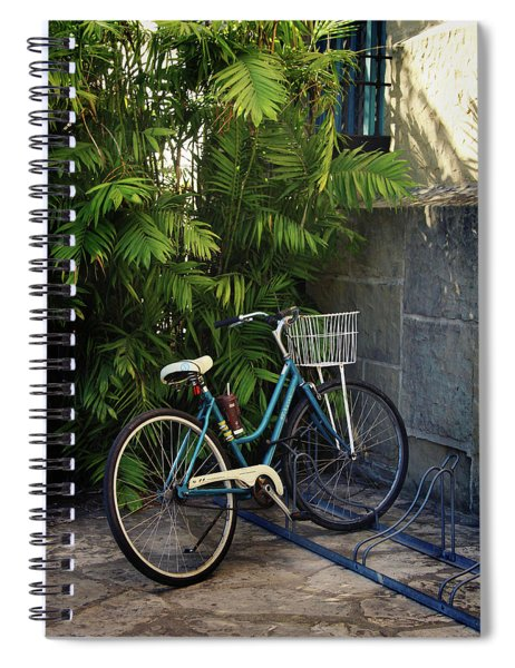 Blue Bike-  By Linda Woods Spiral Notebook