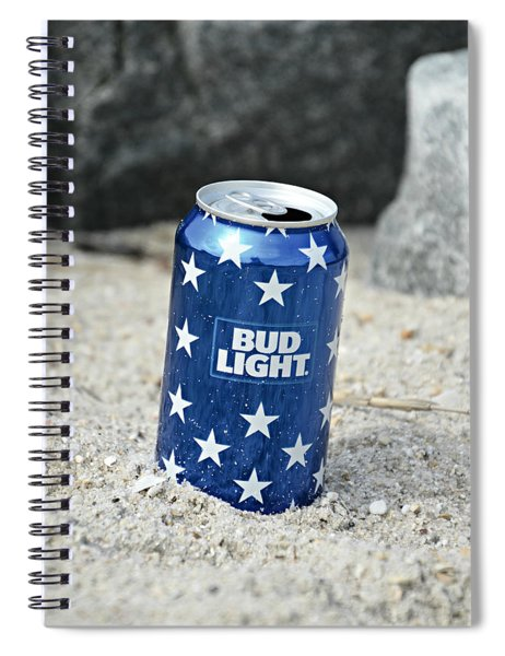 Blue Bud Light Spiral Notebook