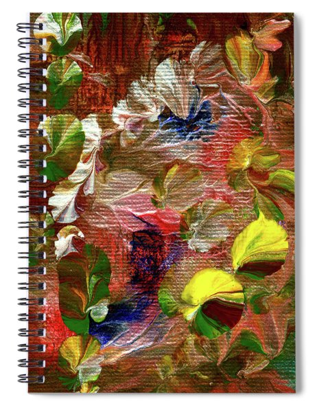 Blue Butterfly Jungle Spiral Notebook