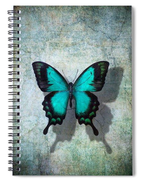 Blue Butterfly Resting Spiral Notebook