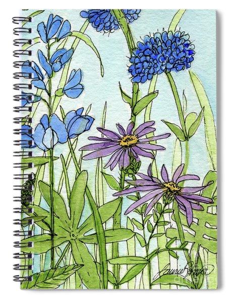 Blue Buttons Spiral Notebook