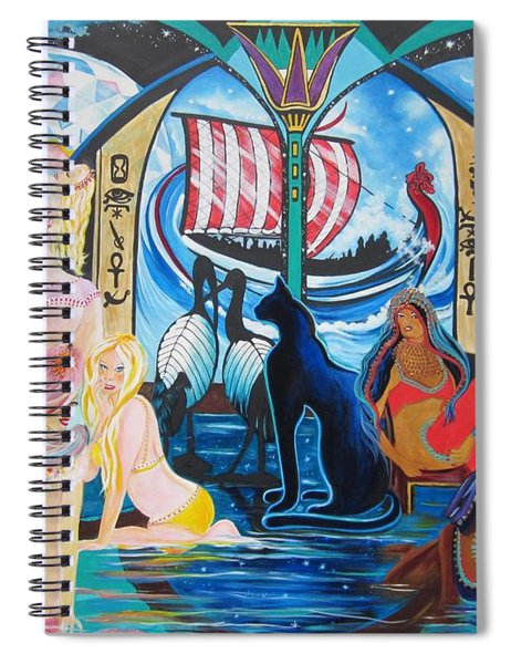 Five Celestial Celebrations                                        Blaa Kattproduksjoner  -  Spiral Notebook