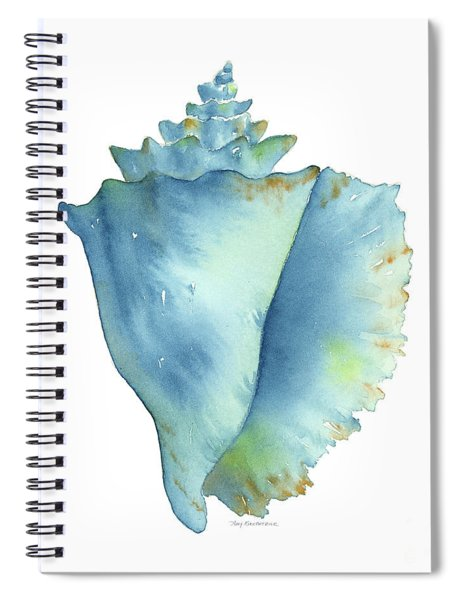 Blue Conch Shell Spiral Notebook