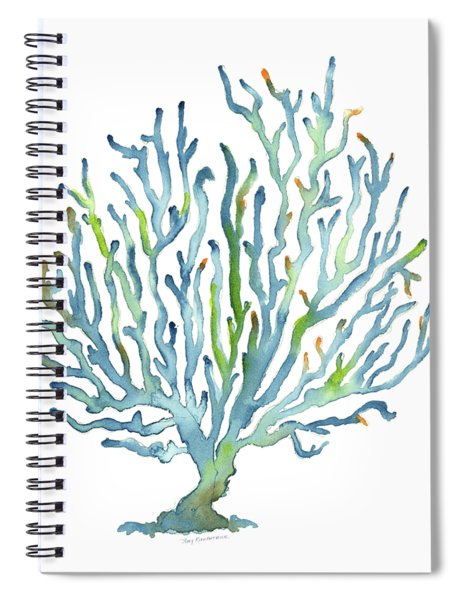 Blue Coral Spiral Notebook