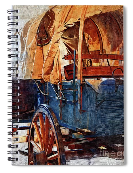 Blue Covered Wagon Spiral Notebook