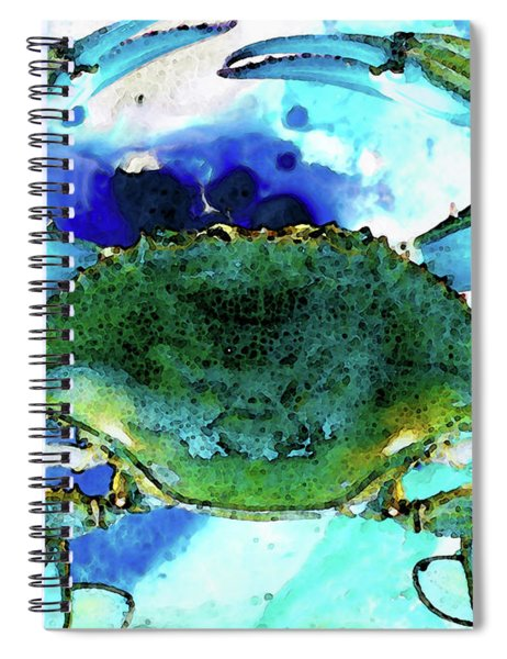Blue Crab - Abstract Seafood Painting Spiral Notebook