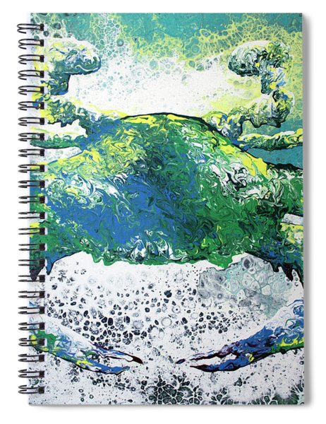 Blue Crab Abstract Spiral Notebook