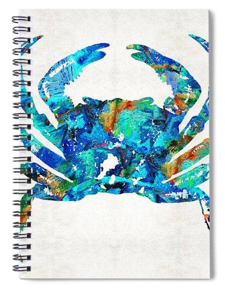 Blue Crab Art By Sharon Cummings Spiral Notebook