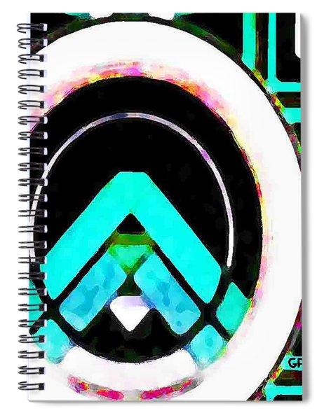 Blue Diamond Spiral Notebook