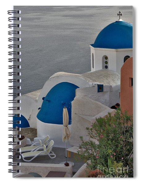 Blue Domes Spiral Notebook