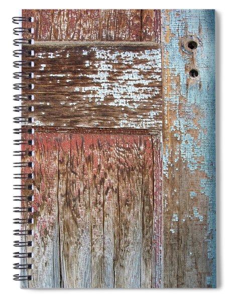Blue Door Crackle Spiral Notebook