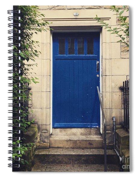Blue Door In Ivy Spiral Notebook