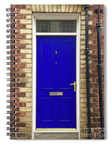 Blue Door Number 3 Spiral Notebook