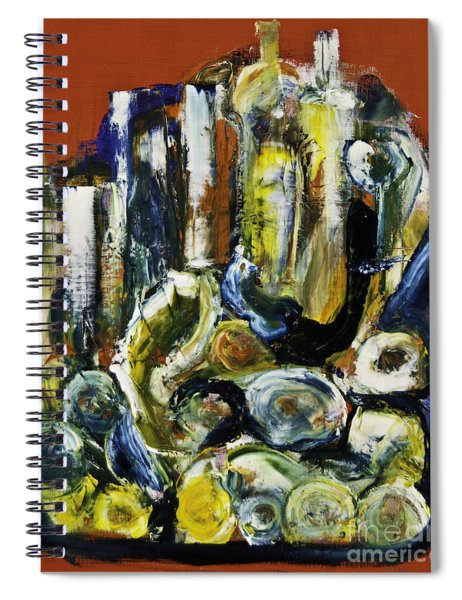 Blue Drinks Tray Spiral Notebook