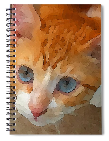 Blue Eyed Punk  Spiral Notebook